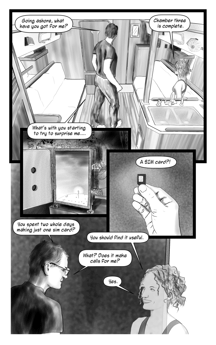 Book 1 – Page 4: A peek at production.